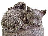 Cat Ashes Urn - Heart Shaped Sleeping Angel Cat