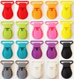 "20 KAMsnaps Lead-Tested Starter Pack 1"" KAM Plastic Pacifier Clips/Suspender Clips for DIY Binky Paci Dummy Soother Toy Teething Ring Leash Bib Snap Holder Clip Snap"
