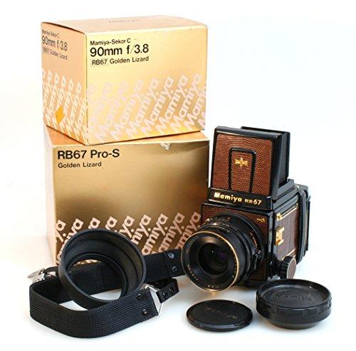 (RARE 300 LIMITED MAMIYA RB67 PRO S GOLD LIZARD SEKOR C W/ 90MM F3.8 LENS)