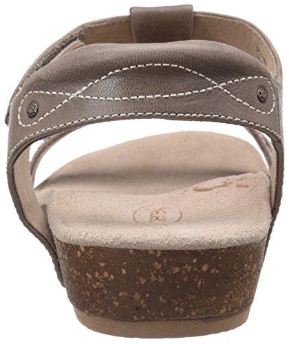 Aetrex Womens Lori Quarter Strap Sandal Stone VtPUM
