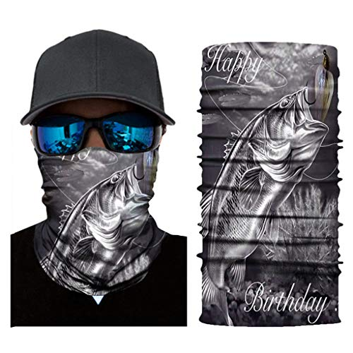 ZLOLIA Multifunction 3D Print Seamless Half Face Mask Breathable Dustproof Windproof UV Shield Outdoor Headband Scarf