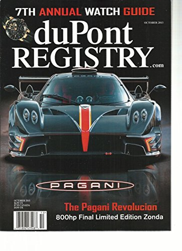 DUPONT REGISTRY, OCTOBER, 2013 (7 th ANNUAL WATCH GUIDE for sale  Delivered anywhere in USA