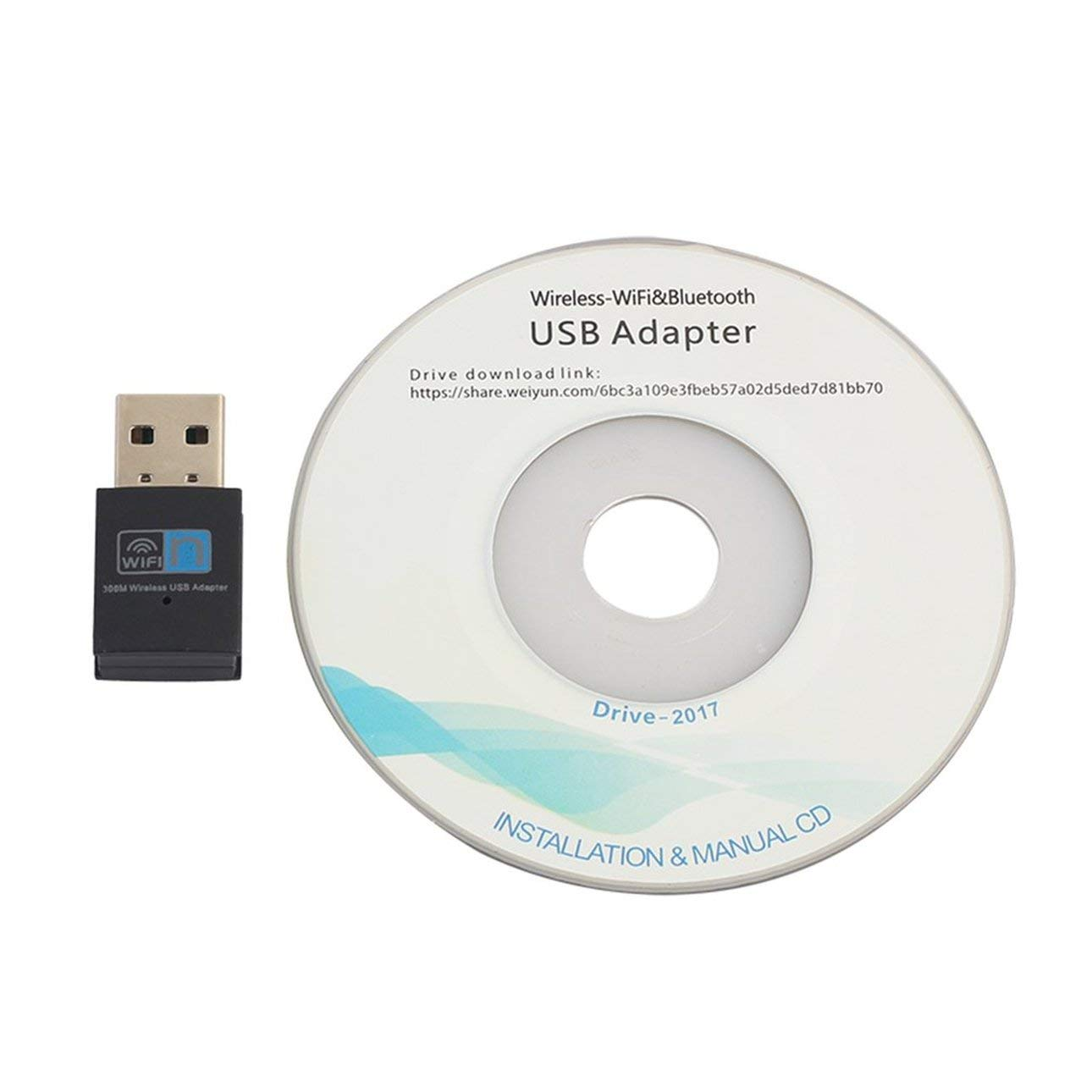 Liobaba 300Mbps Mini USB2.0 WiFi Adapter WiFi Dongle Wireless LAN Network Card 802.11n/g/b WiFi LAN Adapter for Laptop PC