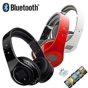 HF - Auriculares de diadema inalámbricos (con radio FM, lector MP3, entrada micro SD, HiFi)