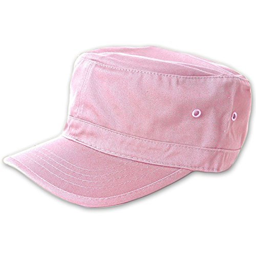Canvas Newsboy Cap - MG Women's Cotton Twill Enzyme Washed Cadet Cap Hat (Pink)  One Size