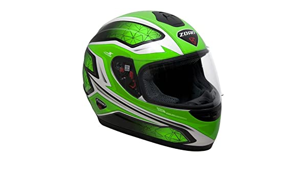 Amazon.es: Zoan Thunder Electra Verde Full Face calle motocicleta casco de equitación, juventud pequeño