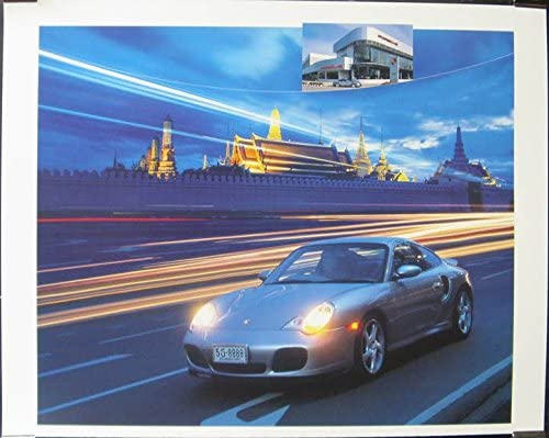 2002 Porsche 911 996 Turbo Showroom Poster