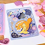 """SGHUO 8 Pcs 4""""x6"""" Pink Rubber Carving Blocks Stamp"""
