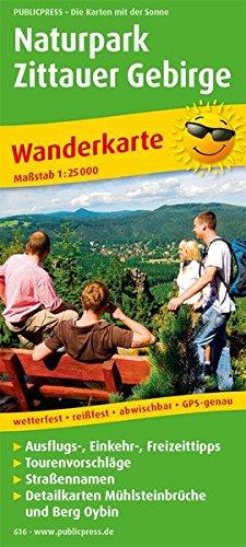 Naturpark Zittauer Gebirge: Wanderkarte mit Ausflugszielen, Einkehr- & Freizeittipps, wetterfest, reißfest, abwischbar, GPS-genau. 1:25000 (Wanderkarte / WK)