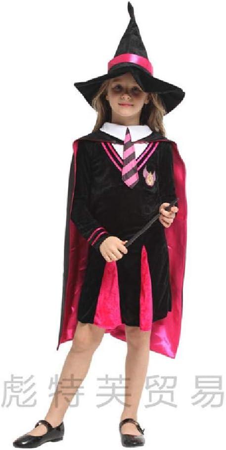 ZTZKS Hechicera Niños Niñas Mago Disfraz de Carnaval Halloween ...