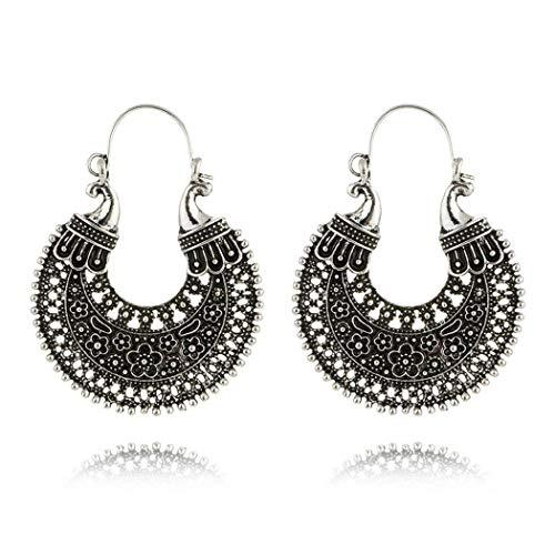Yugiose Women Fashion Boho Style Heart Shape Hollow Dangle Drop Earrings Jewelry Gift Drop & Dangle