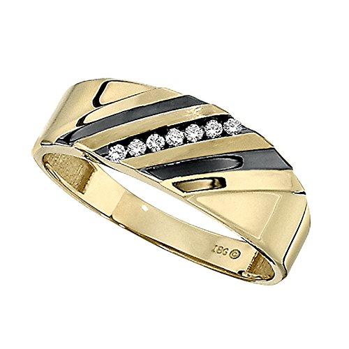 10k Yellow Gold Diamond Wedding Band. Finger Size 8
