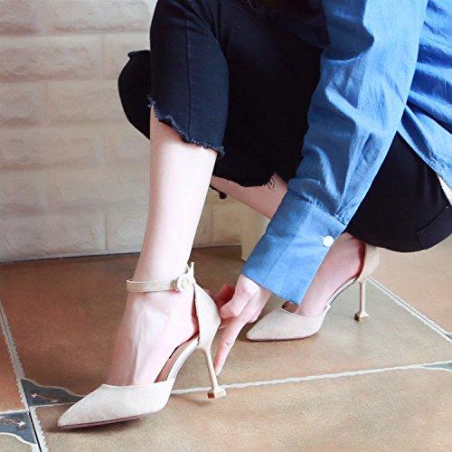 Xue Qiqi Pumps Sandalen Schuhe Fein mit High-Heel Schuhe Schuhe Geschlitzten Lasche Hohlen Frauen Schuhe Schuhe Schuhe in Anbetracht der Dünnen Einzelne Schuhe Hingewiesen 924881