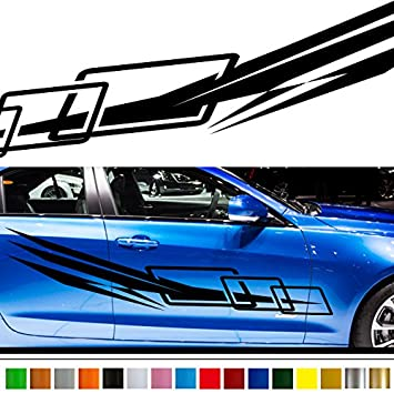 Amazoncom Line Car Sticker Car Vinyl Side Graphics Car - Stickers for the car