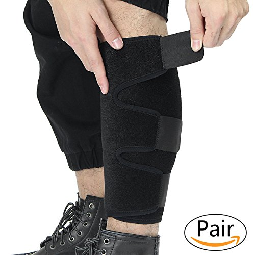 Essort Medical Sports Calf Support Brace, Adjustable Shin Splint Compression Sleeve Increases Circulation Recovery, Reduces Swelling, Varicose Veins, Leg Pain, Running, Men & Women, Pair by Essort