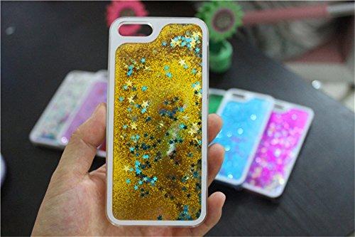 Borch Fashion Sparkling Stars Quicksand Liquid Hard Case Cover for Iphone 4 4g 4s (Golden)