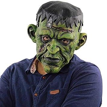 QWHW Scary Evil Clown Mask, Máscara de Goma de látex de Doble Cara ...