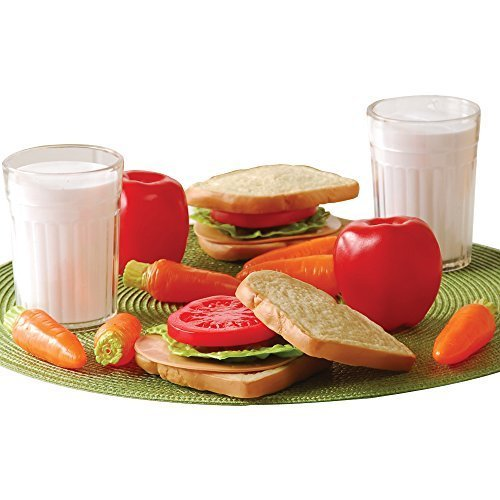 Play Healthy Lunch - Cp Toys 20 Pc. Pretend Play Healthy Lunch Plastic Food Set for Two
