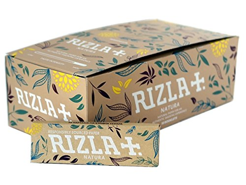 (10 Booklets Rizla Natura Unbleached Hemp Regular Size Cigarette - Tobacco Rolling Papers)