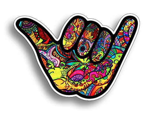 Hang Loose Ten Shaka Graffiti Sticker Vinyl Decal for Car Truck Vehicle Graphic