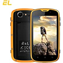 EL W5 Rugged Unlocked Smartphone with Wateproof IP68 Dustproof 4G LTE Android 6.0 Unlocked Outdoor Phones 100% Authentic - 〖AT&T / T-Mobile 〗 (Yellow)