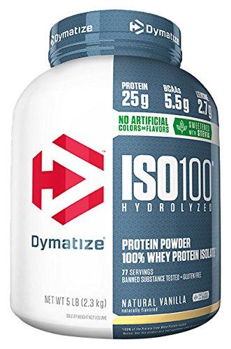 Dymatize ISO 100 Whey Protein Powder Isolate, Natural Vanilla, 5 lbs - Natural Vanilla