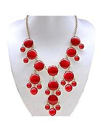 Fashion Statement Necklace Rhinestone Golden Chain Chunky Bib Bubble Bib Women Jewelry