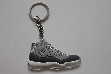 c31eedb3d3f73e Amazon.com  Jordan XI 11 Cool Grey Sneakers Shoes Keychain Keyring ...