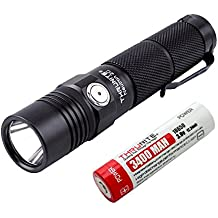 ThruNite Neutron 2C V3 Micro-USB Chargeable LED Flashlight CREE XP-L V6 LED Max 1100 lumens with Firefly, Turbo, Strobe and Self-define Modes Battery Included (Neutron 2C V3 Cool White)