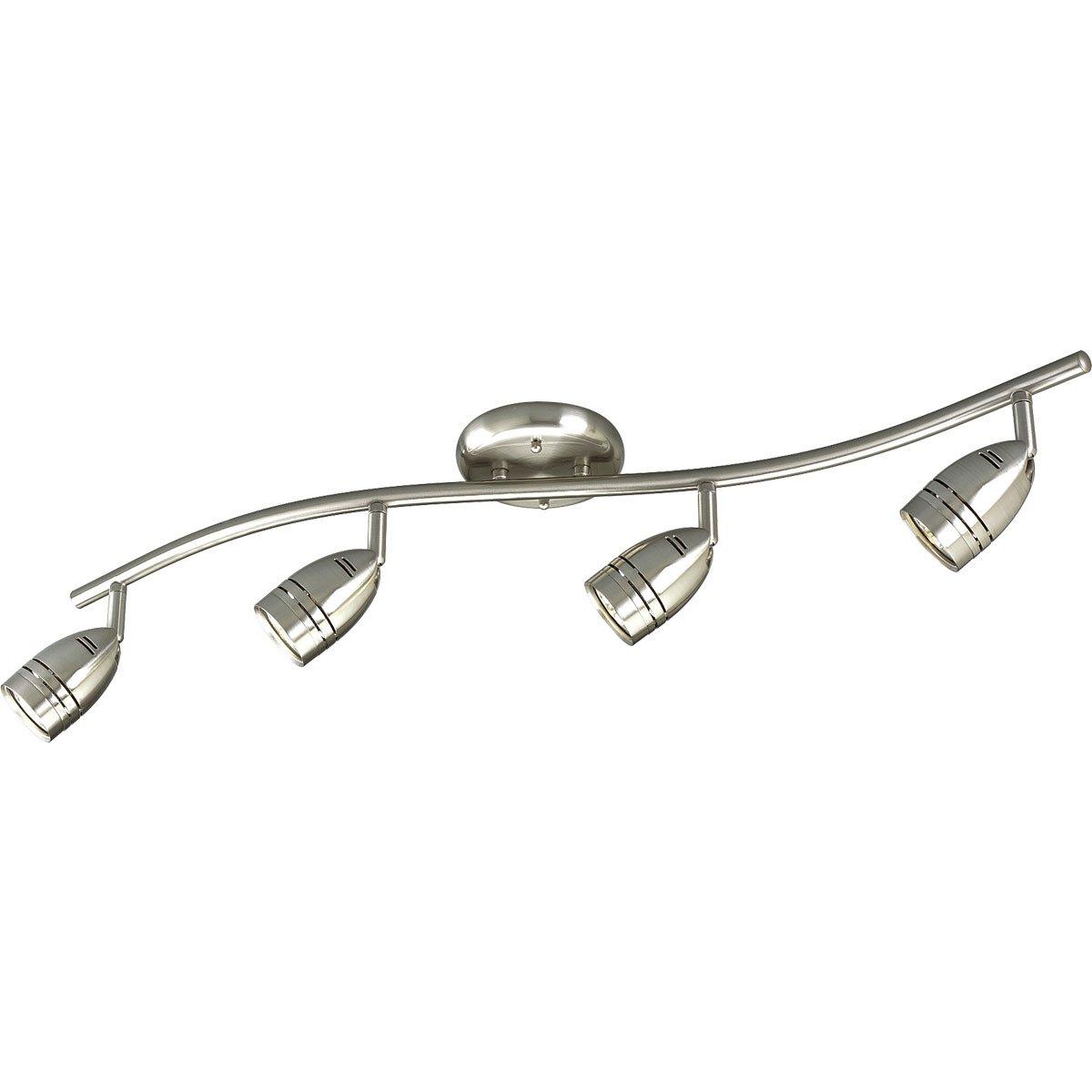 Progress Lighting P6163-09WB 4-Light Wavy Wall/Ceiling Mount Directional, Brushed Nickel by Progress Lighting