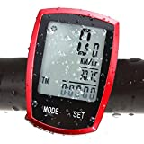 COOLWHEEL 22 Function Wireless Bike computer, Waterproof Bicycle Speedometer Odometer LCD Backlight Displays, Cyclocomputer For Cycling Distance, Speed, Time, Calories