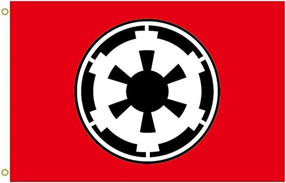 Gran bandera bandera de Imperio Galáctico Star Wars 0 C al aire libre bandera bandera 3 x 5ft Banner: Amazon.es: Jardín