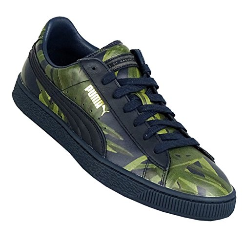 Puma Sneaker Basket X Hoh Palm para hombre total de Eclipse Green 44
