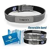 """""""Dementia"""" Sport/Slim Reversible Medical Alert ID"""