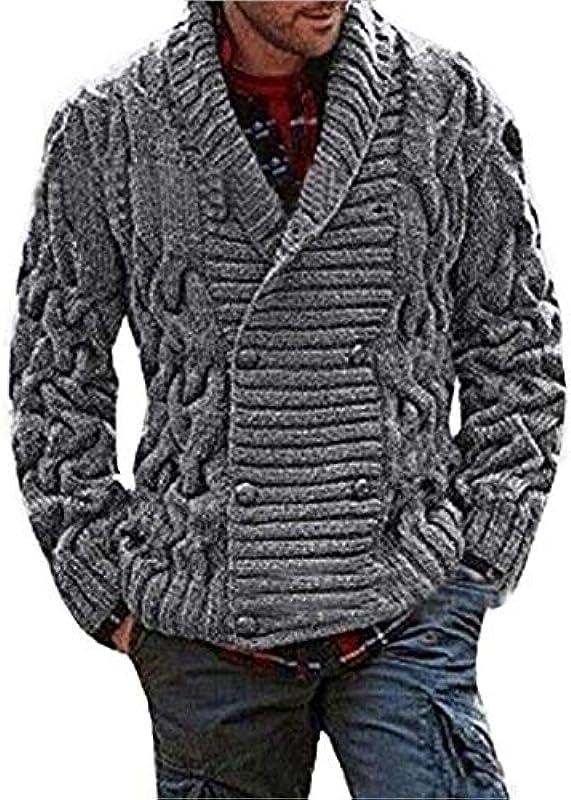 Jakflyzel Herbst Winter Męskie Strick Cardigan Sweater Männlich Lässig Einfarbig Button Männlich Lose Mäntel: Odzież