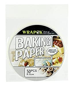 Wrapok 6 Inch Kitchen Perforated Parchment, Bamboo Steamer Liners, Not stick Steaming Papers