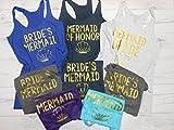 Set of 8 Mermaid Bachelorette Tanks, 8 Bridesmaid Tanks, 8 Bachelorette Party Tank Tops