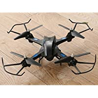 Lookatool Hot Sale S21 LED Altitude Hold 2.4G 2MP HD Camera 6-Axis WIFI FPV RC Quadcopter Warrior Drone, Black