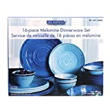 16-Piece Melamine Dinnerware Set (Blue)