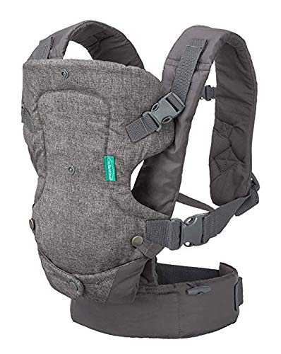 Infantino Flip Advanced 4-in-1 Convertible Baby Carrier, Light Grey 005204