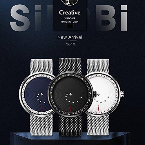Cool Relojes Relojes Exclusivos Relojes de Hombre Minimalista Reloj de Malla para Hombre: Amazon.es: Relojes