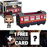 Hermione Granger & Hogwarts Express Carriage: Funko POP! Rides x Harry Potter Vinyl Figure + 1 FREE Official Harry Potter Trading Card Bundle (060121)