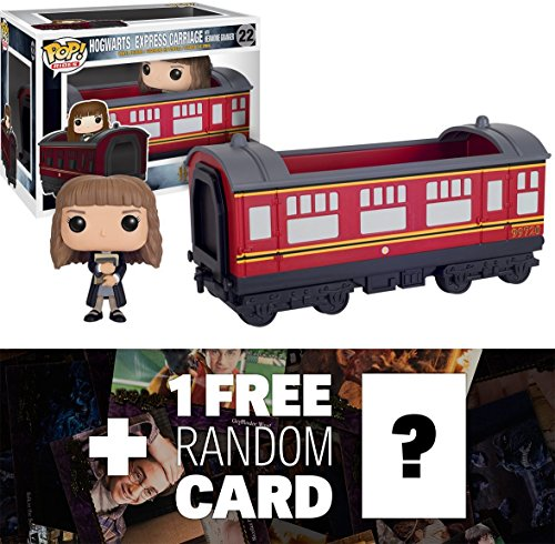 Price comparison product image Hermione Granger & Hogwarts Express Carriage: Funko POP! Rides x Harry Potter Vinyl Figure + 1 FREE Official Harry Potter Trading Card Bundle (060121)