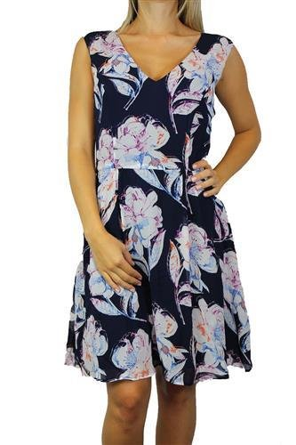 FRENCH CONNECTION Damen Kleid Blau NCTRNL Blumen Gr S Dress 71DGQ #O16