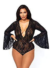 Leg Avenue Women's Stretch Lace Deep