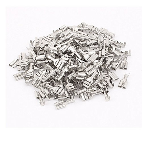 (Uxcell Female Spade Connectors Non-Insulated Terminals 160pcs Silver Tone )