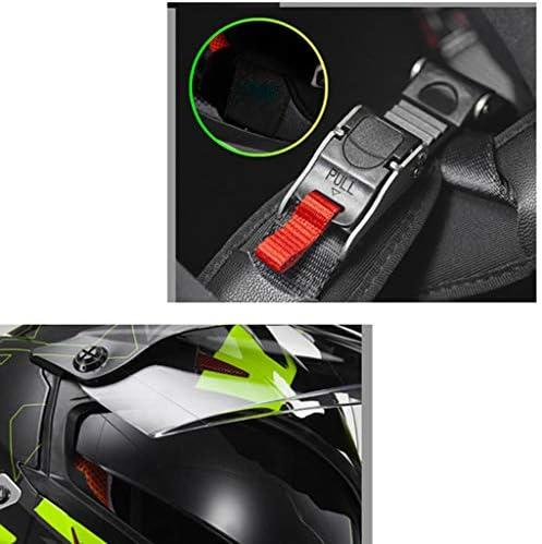 安全装置 ヘルメット - フルフェイスダブルレンズオフロードバイクオートバイクラッシュセーフティ 個人用保護具 (色 : B, サイズ さいず : XXXL-62-63cm)