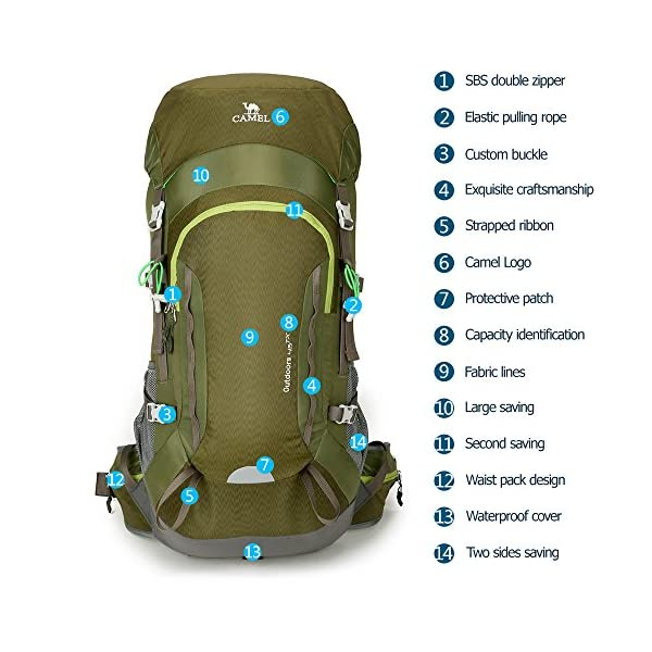 Camel 45L Internal Frame Backpack High-Performance Backpack for Backpacking  Outdoor ... e59c52e23773a
