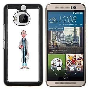 Stuss Case / Funda Carcasa protectora - Papá Retrato Arte Caricatura Hombre Gafas - HTC One M9Plus M9+ M9 Plus