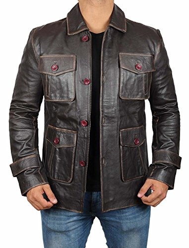 Distressed Brown Super Natural Jacket - Dean winchester Real Leather Jacket (S, Brown - Supernatural (Mens Distress Brown Leather)